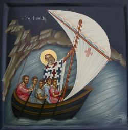 St. Nicholas on boat - low res
