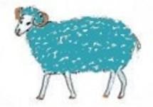 Srednja tirkizna Ovca